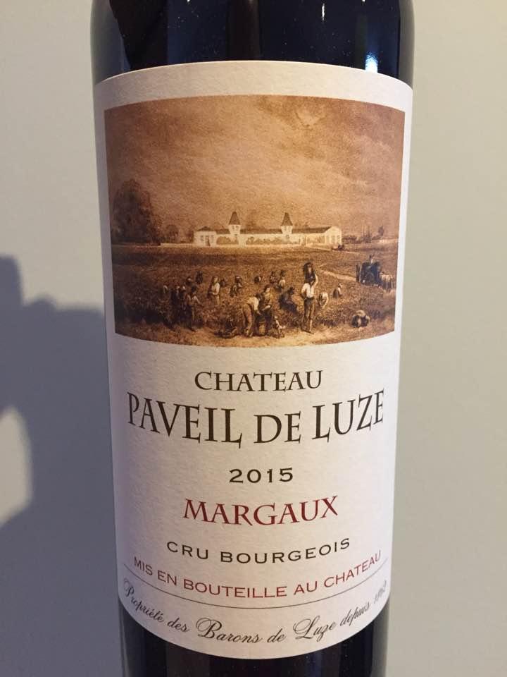Château Paveil de Luze 2015 – Margaux – Cru Bourgeois