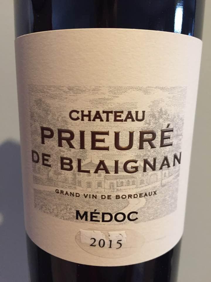 Château Prieuré de Blaignan 2015 – Médoc