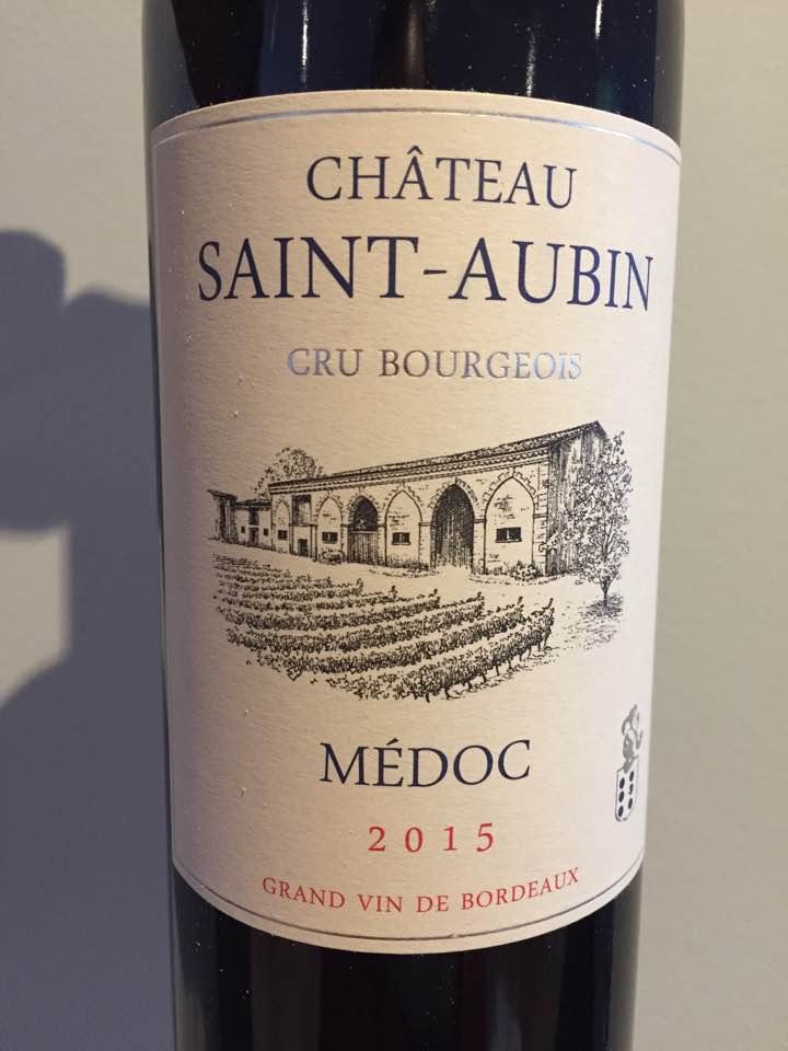 Château Saint-Aubin 2015 – Médoc – Cru Bourgeois