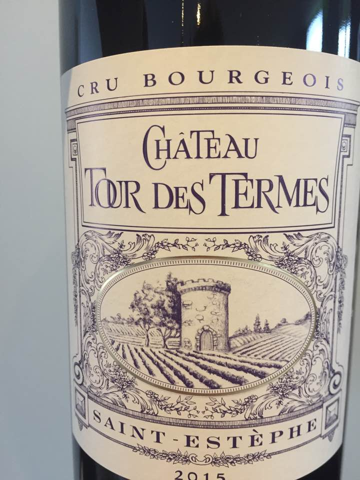 Château Tour des Termes 2015 – Saint-Estèphe – Cru Bourgeois