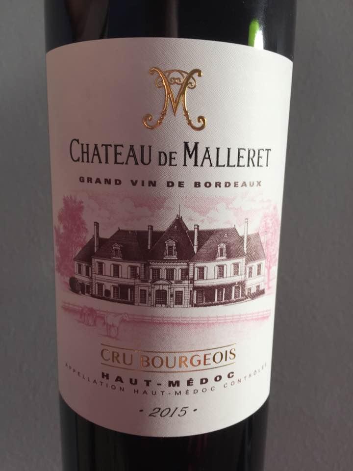 Château de Malleret 2015 – Haut-Médoc – Cru Bourgeois