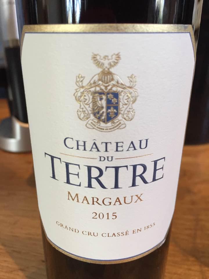 Château du Tertre 2015 – Margaux, Grand Cru Classé