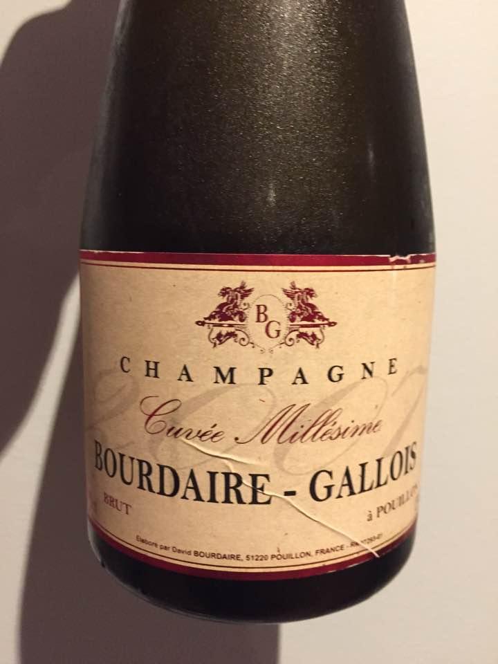 Champagne Bourdaire-Gallois – Cuvée Millésime 2007 – Brut