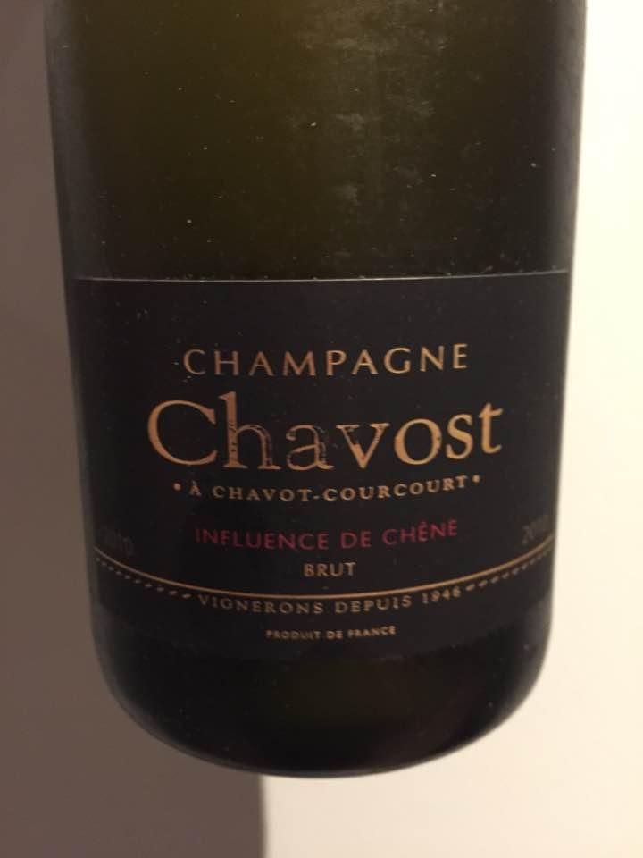 Champagne Chavost – Influence de Chêne 2010 – Brut