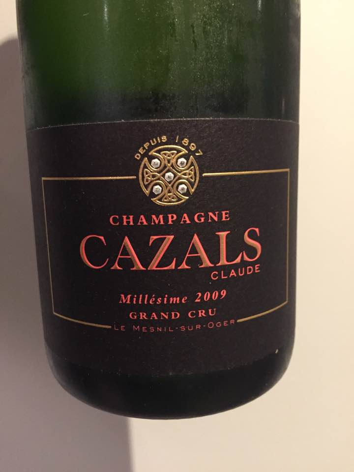 Champagne Claude Cazals – Millésime 2009 – Grand Cru