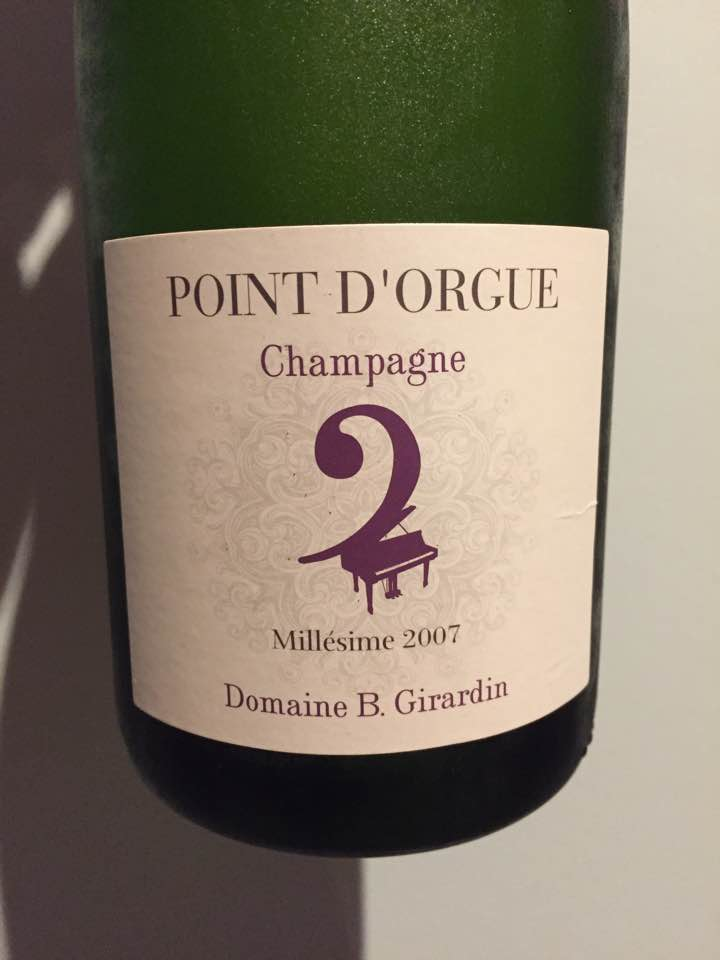 Champagne Domaine B. Girardin – Point D'Orgue 2007 – Brut
