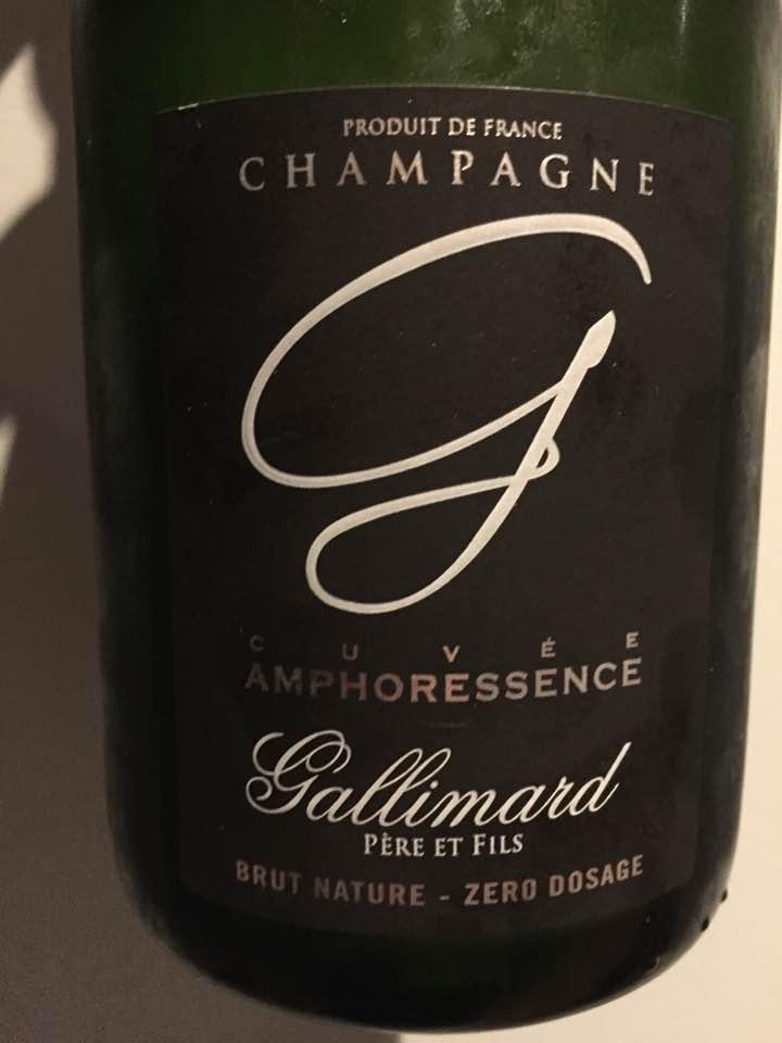 Champagne Gallimard Père & Fils – Cuvée Amphoressence – Brut Nature – Zéro Dosage