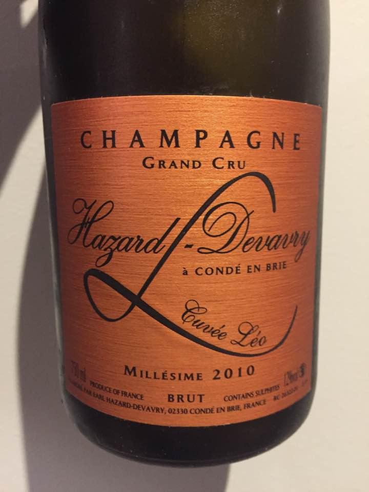 Champagne Hazard-Devavry – Cuvée Léo 2010 – Brut – Grand Cru