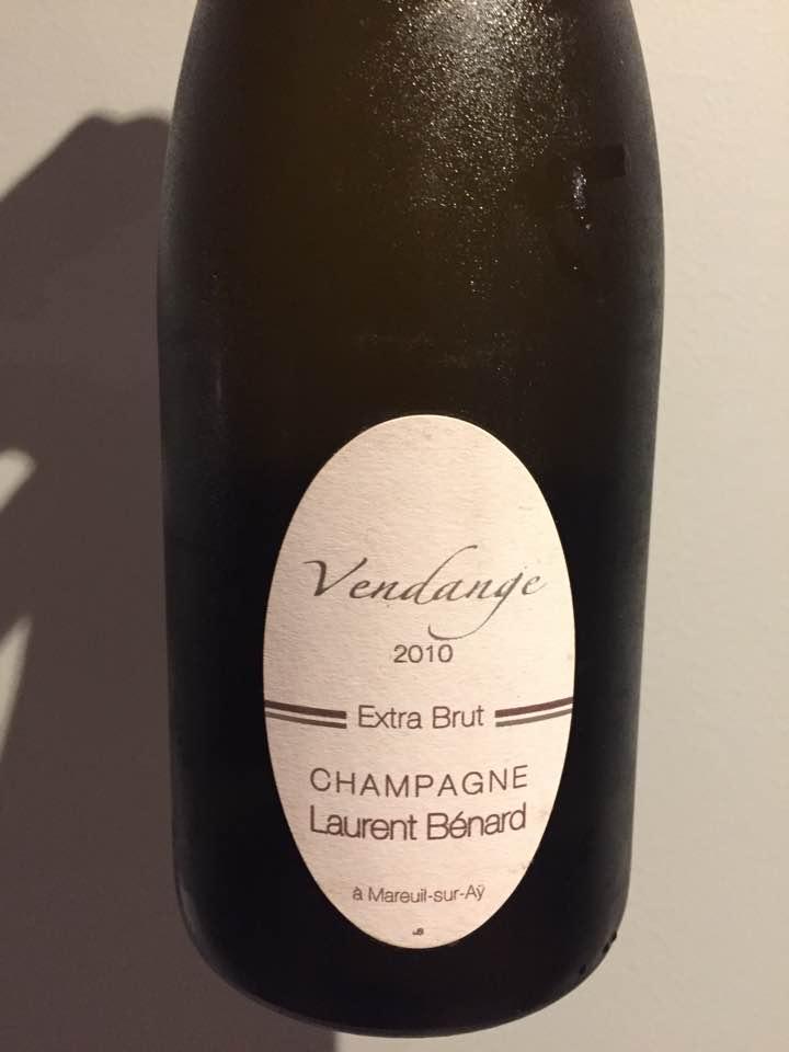 Champagne Laurent Bénard – Vendange 2010 – Extra-Brut – Premier Cru