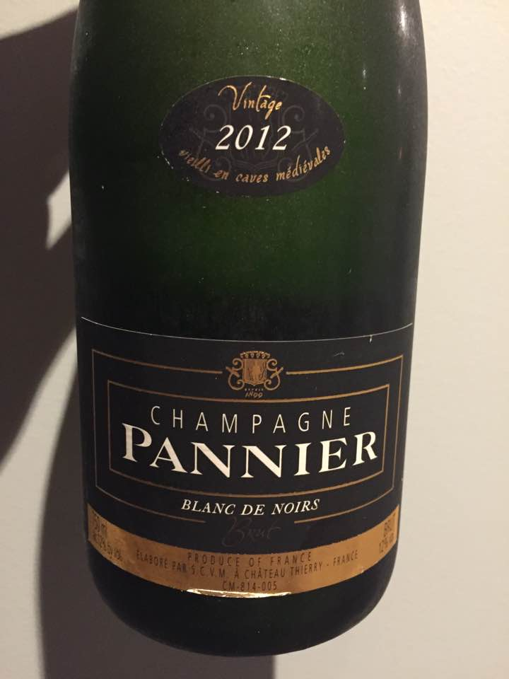 Champagne Pannier – Vintage 2012 – Blanc de Noirs – Brut