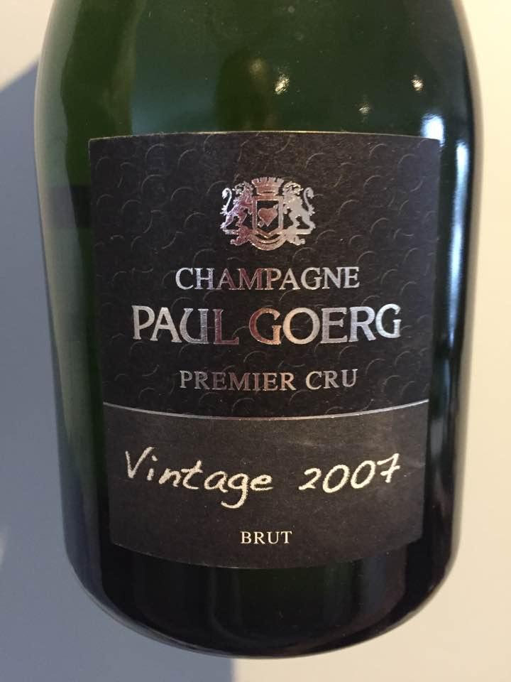 Champagne Paul Goerg – Vintage 2007 – Premier Cru – Brut