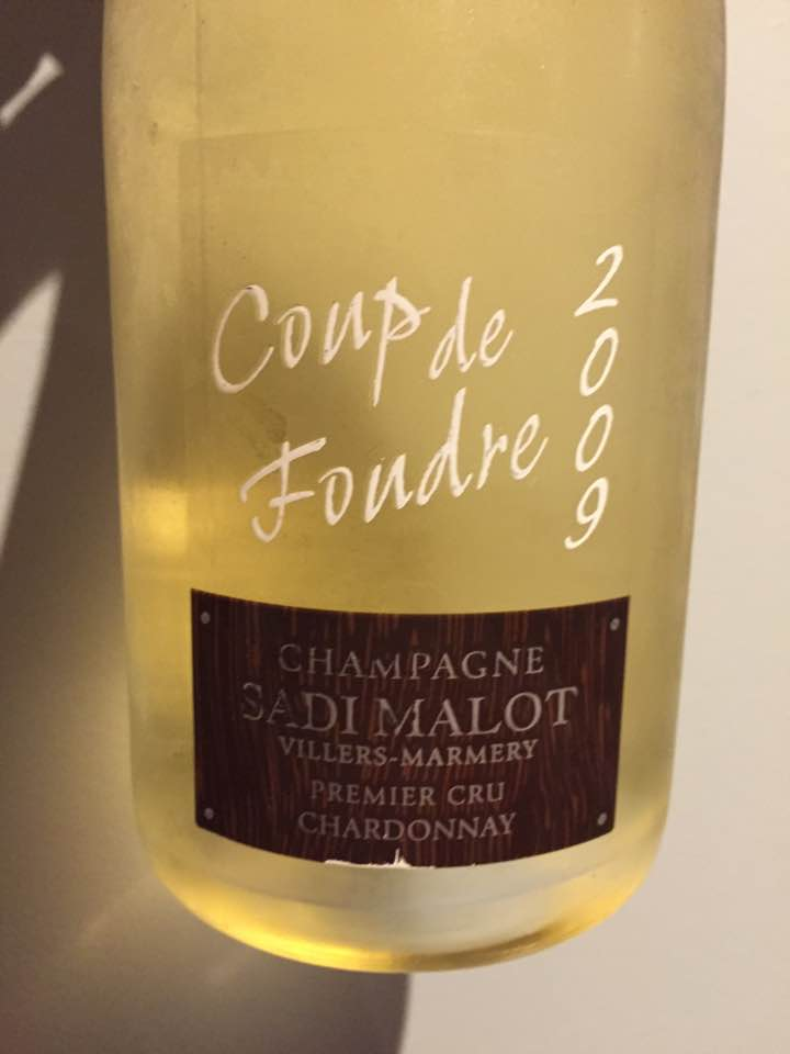 Champagne Sadi Malot – Coup de Foudre 2009 – Premier Cru