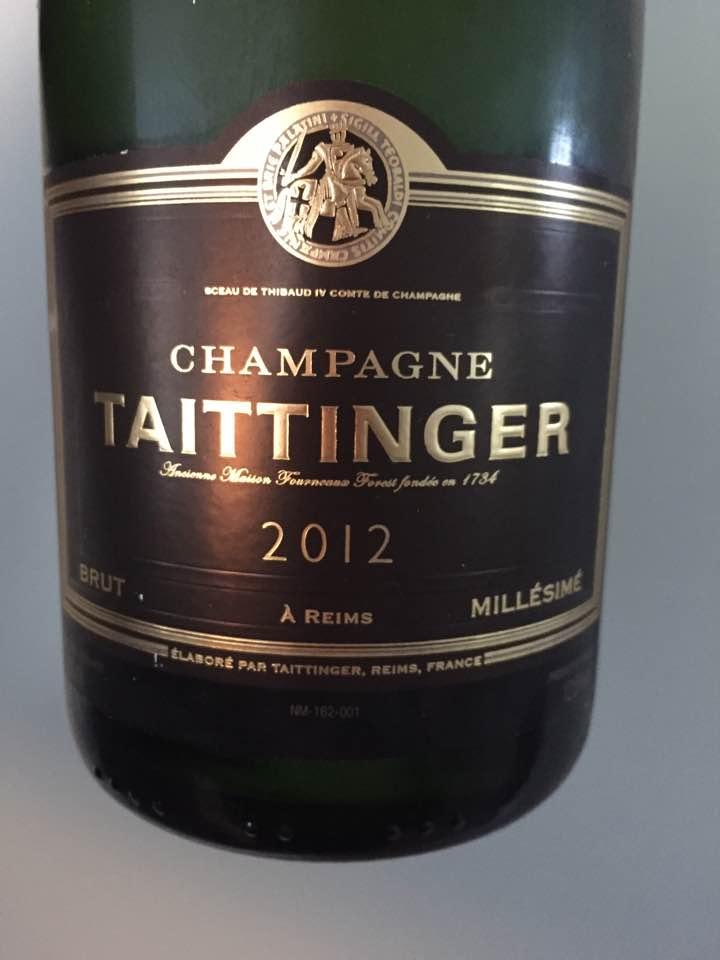 Champagne Taittinger – Millésime 2012 – Brut