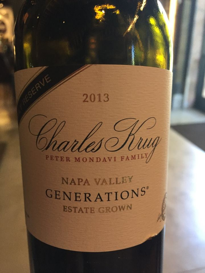 Charles Krug – Generations 2013 – Family Reserve – Estate Grown – Napa Valley