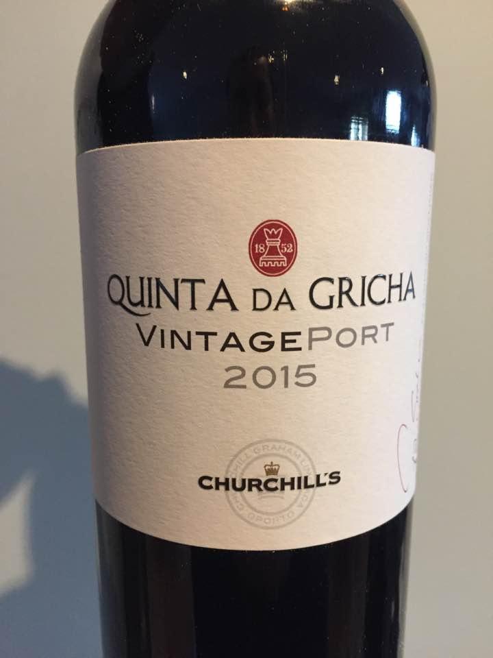 Churchill's – Quinta da Gricha 2015 – Vintage Port