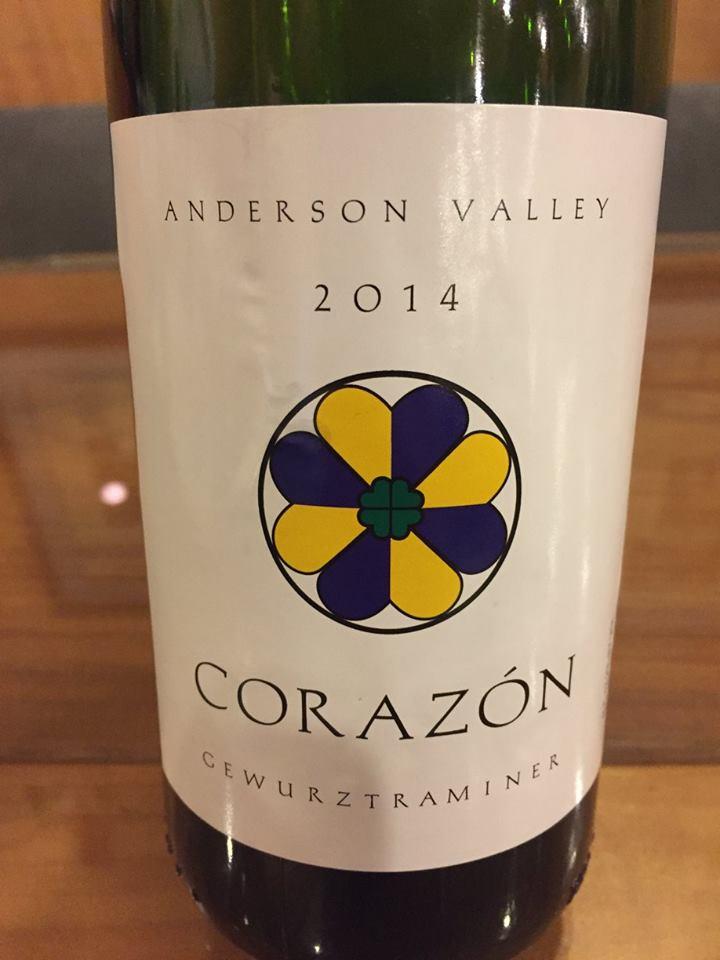 Corazon – Gewurztraminer 2014 – Anderson Valley
