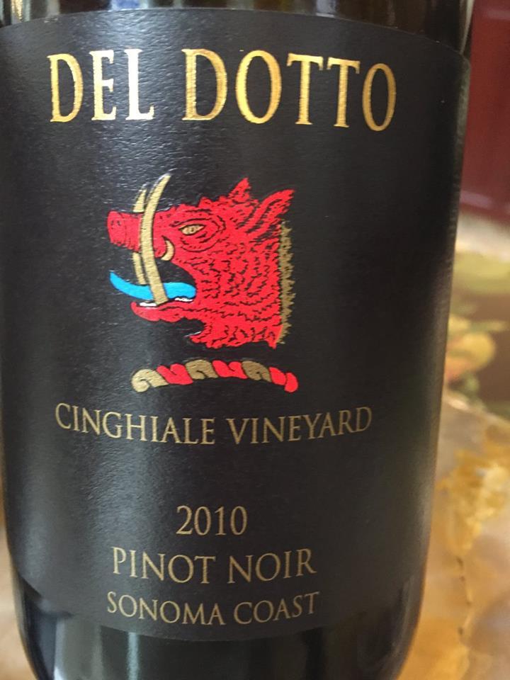 Del Dotto – Cinghiale Vineyard – Pinot Noir 2010 – Sonoma Coast