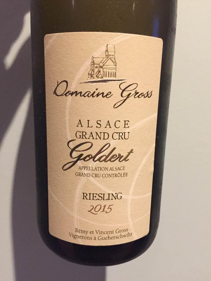 Domaine Gross – Riesling 2015 – Grand Cru, Goldert – Alsace