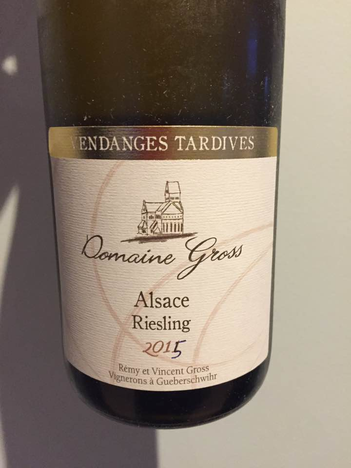 Domaine Gross – Riesling 2015 – Vendanges tardives – Alsace