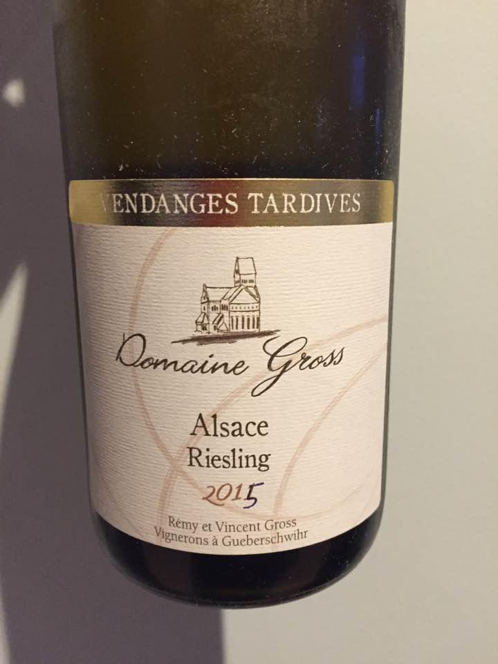 Domaine Gross – Riesling 2015 – Vendanges tardives – Alsace