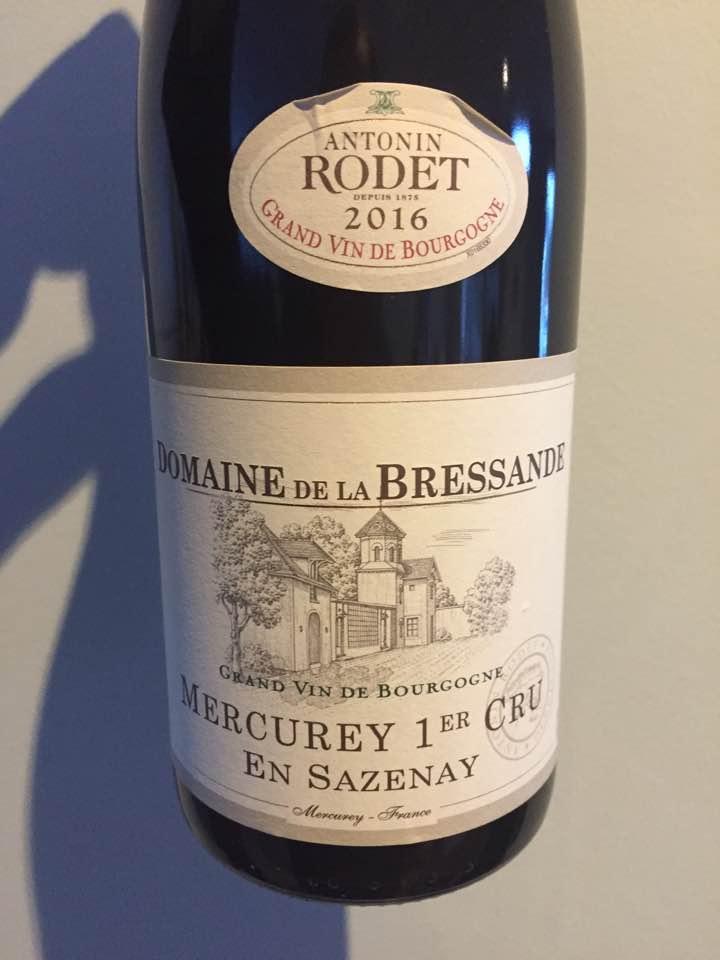 Domaine de la Bressande – Antonin Rodet – En Sazenay 2016 – Mercurey 1er Cru
