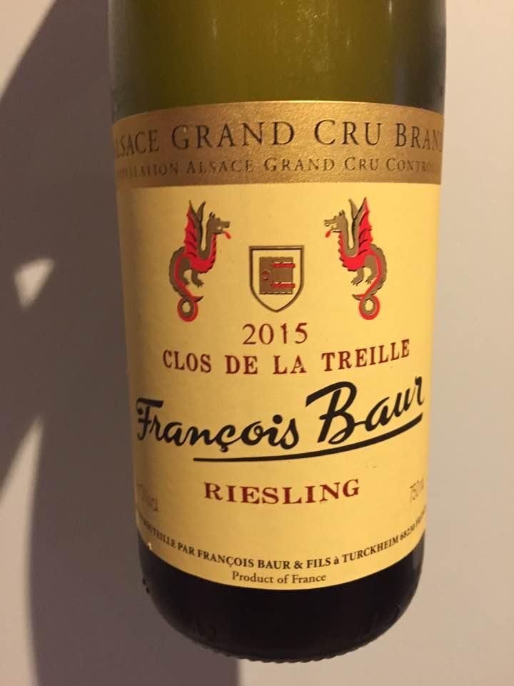 François Baur – Clos de la Treille – Riesling 2015 – Brand Grand Cru, Alsace