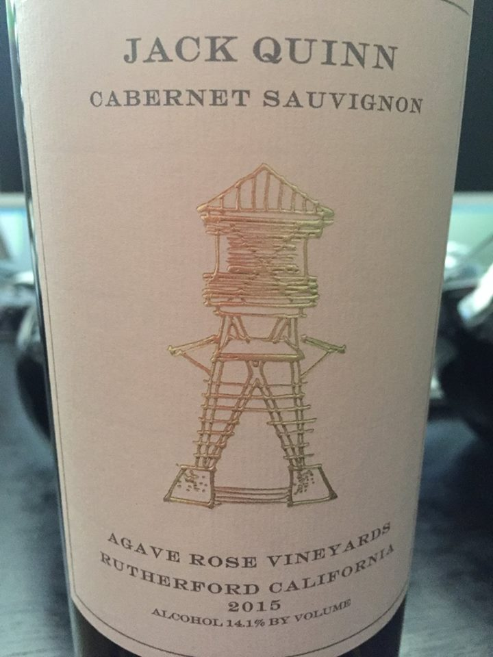 Jack Quinn – Cabernet Sauvignon 2015 – Agave Rose Vineyards – Rutherford – Napa Valley