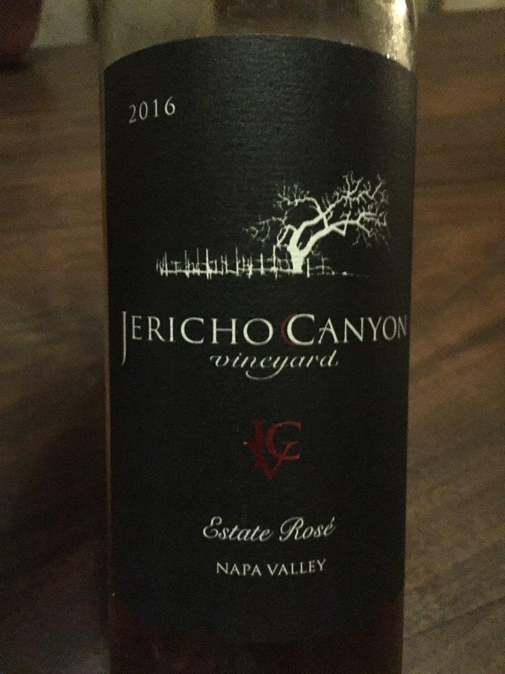 Jericho Canyon Vineyard – Estate Rosé 2016 – Napa Valley