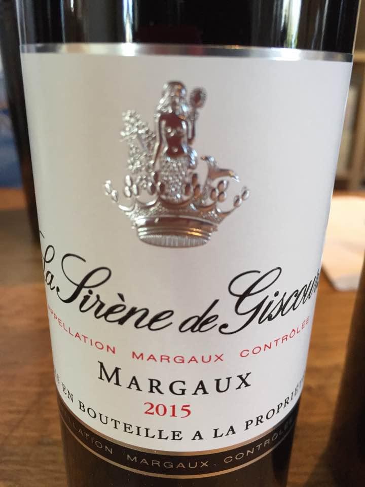 La Sirène de Giscours 2015 – Margaux