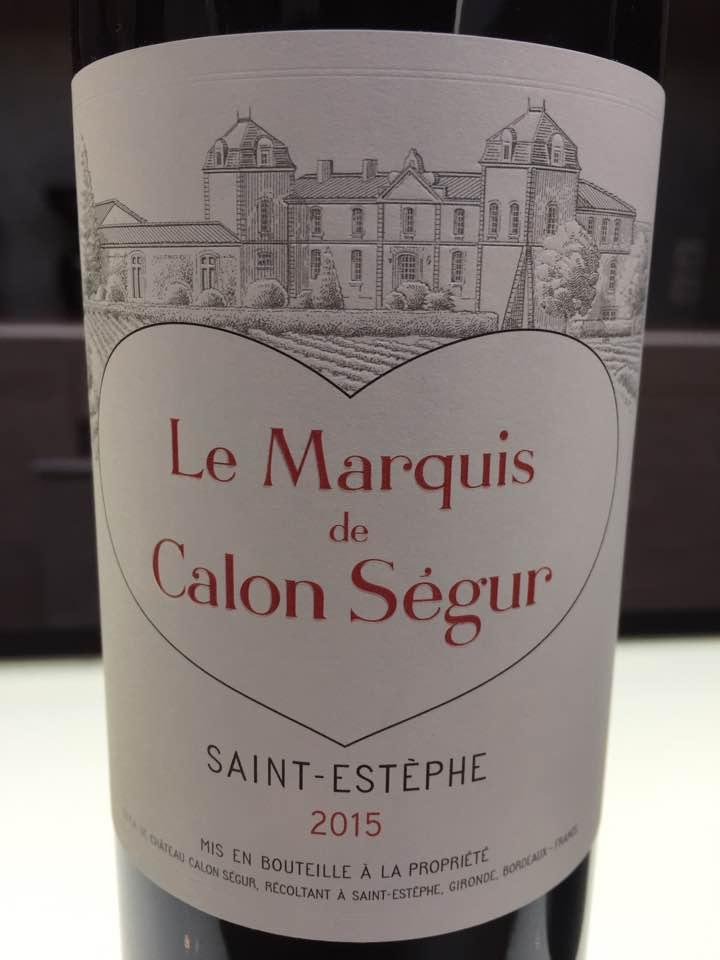 Le Marquis de Calon Ségur 2015 – Saint-Estèphe