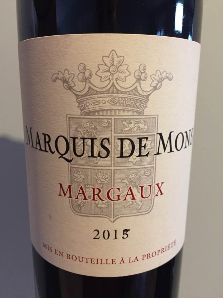 Marquis de Mons 2015 – Margaux