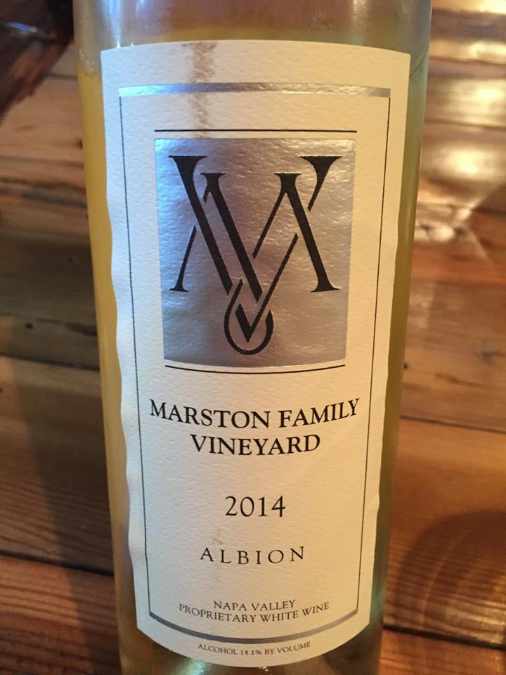 Marston Family Vineyard – Albion 2014 – Proprietary White Wine – Napa Valley