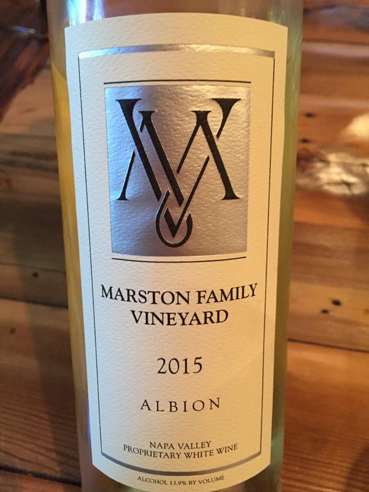 Marston Family Vineyard – Albion 2015 – Proprietary White Wine – Napa Valley