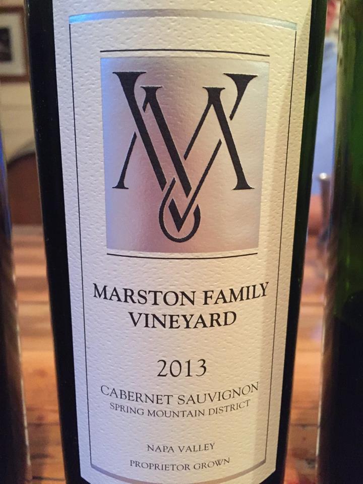 Marston Family Vineyard – Cabernet Sauvignon 2013 – Spring Mountain District, Napa Valley