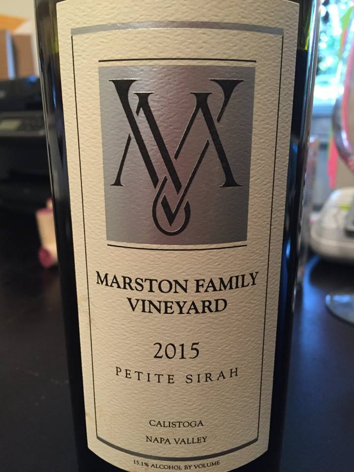 Marston Family Vineyard – Petit Syrah 2015 – Calistoga, Napa Valley