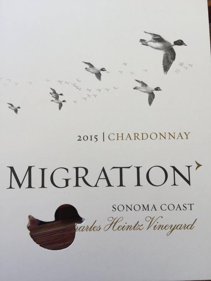 Migration – Chardonnay 2015  Charles Heintz Vineyard – Sonoma Coast