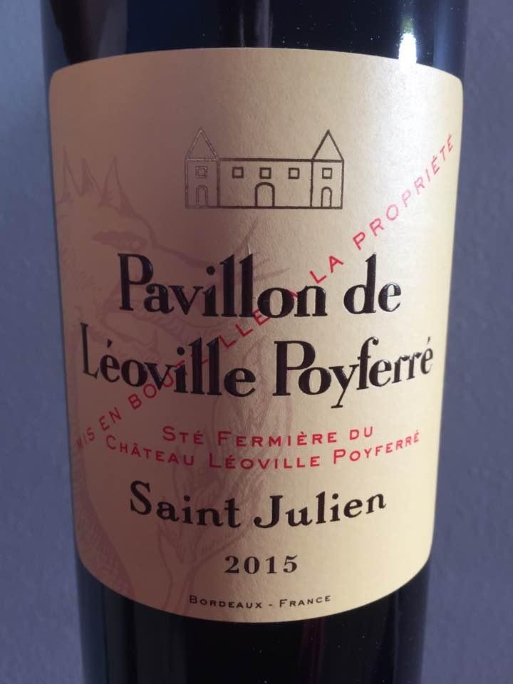 Pavillon de Léoville Poyferré 2015 – Saint-Julien