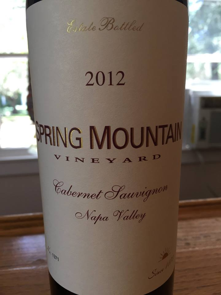 Spring Mountain Vineyard – Cabernet Sauvignon 2012 – Napa Valley
