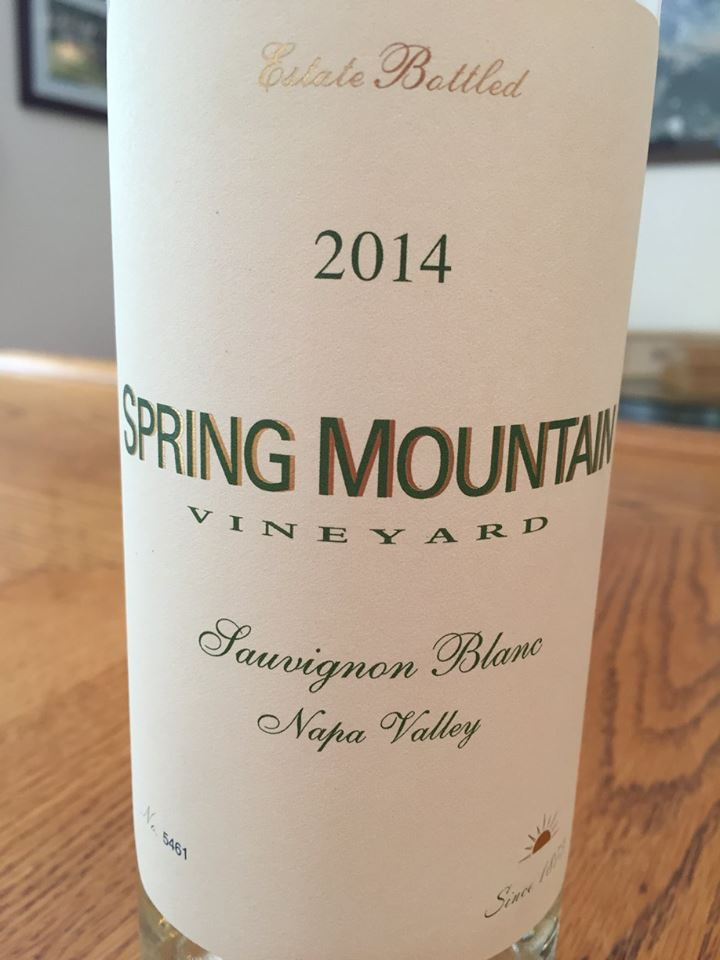 Spring Mountain Vineyard – Sauvignon Blanc 2014 – Napa Valley