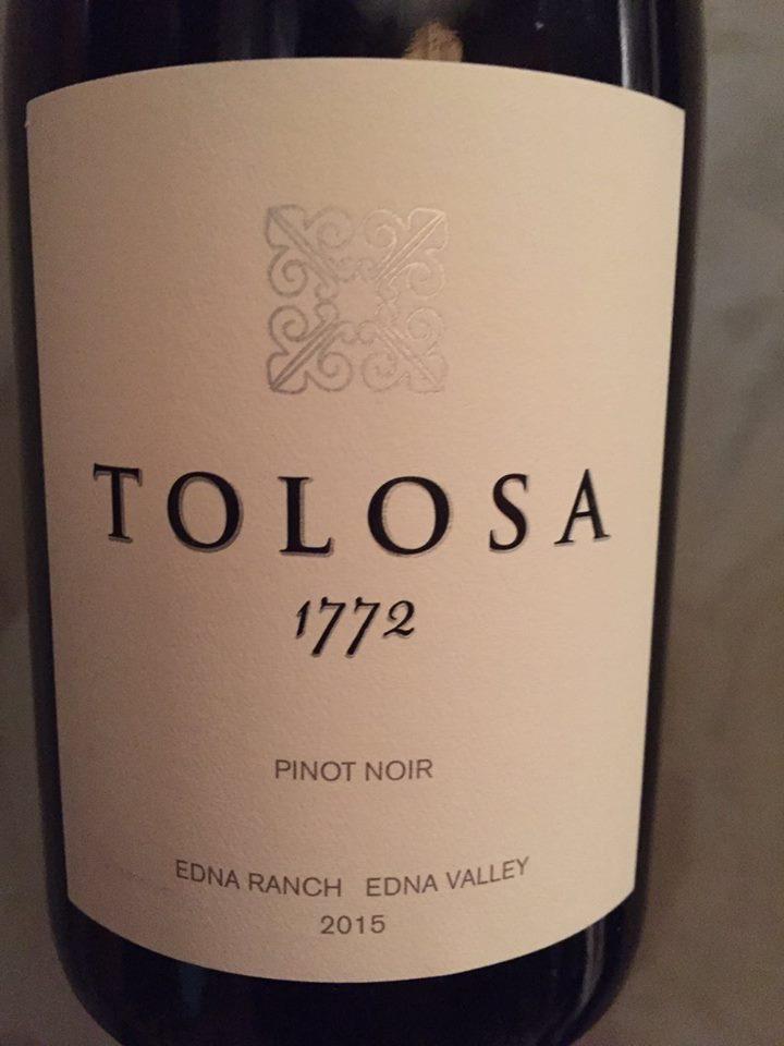 Tolosa 1772 – Pinot Noir 2015 – Edna Ranch – Edna Valley