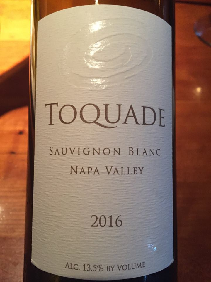Toquade – Sauvignon Blanc 2016 – Napa Valley