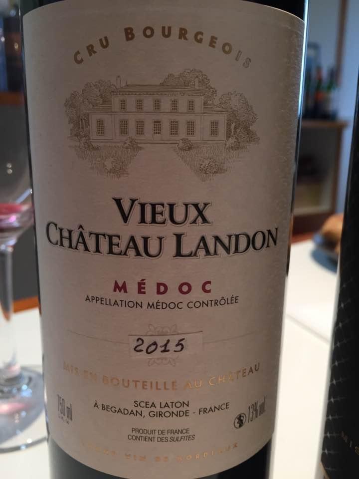 Vieux Château Landon 2015 – Médoc – Cru Bourgeois