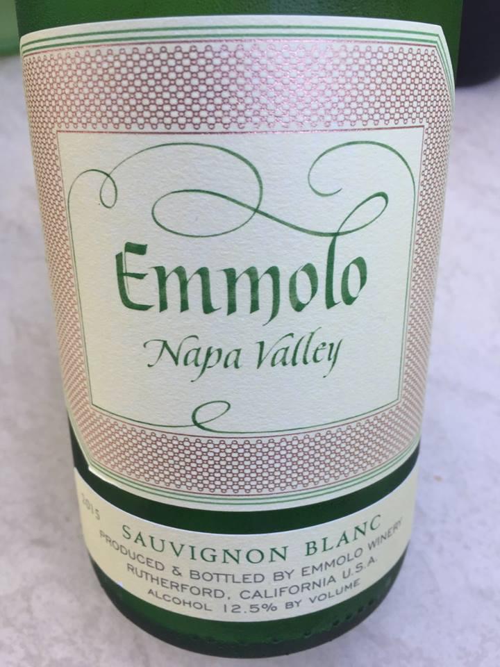 Emmolo – Sauvignon Blanc 2015 – Napa Valley