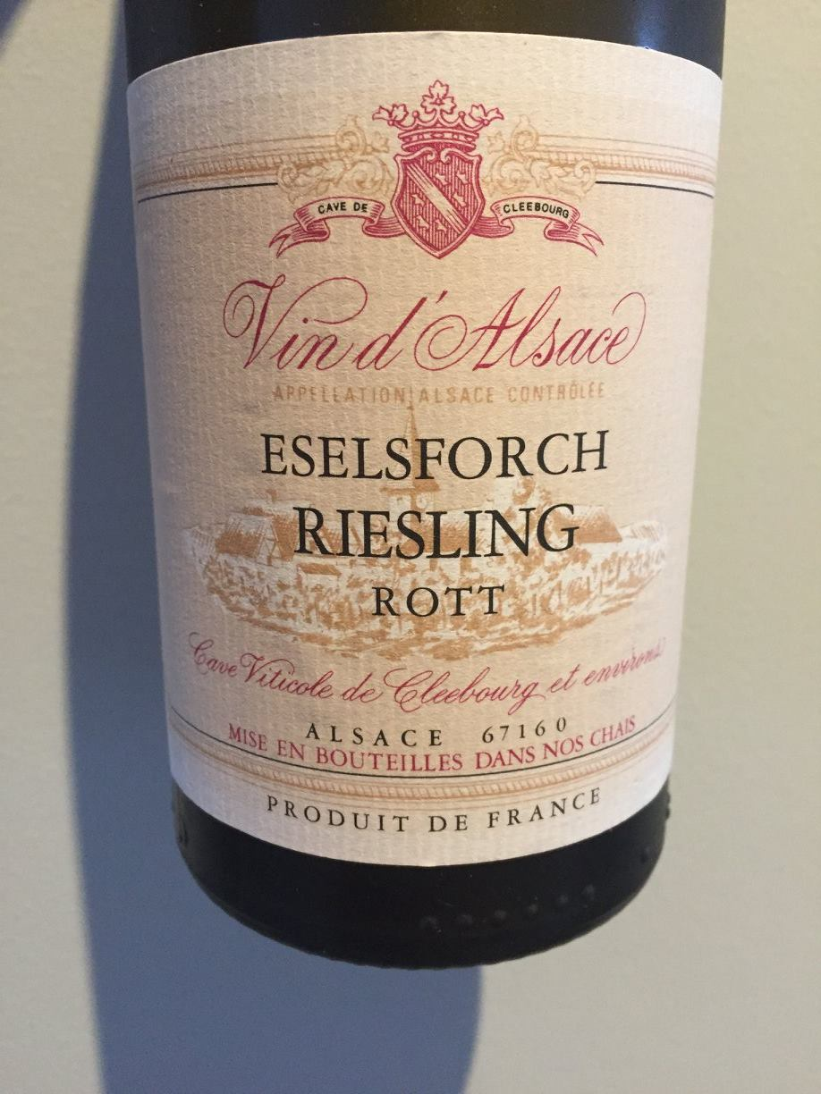 Cave Viticole de Cleebourg – Eselsforch Riesling Rott 2015 – Alsace