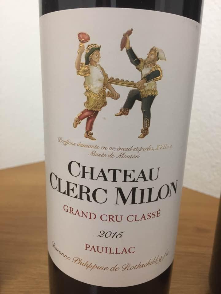 Château Clerc Milon 2015 – Pauillac, 5ème Cru Classé