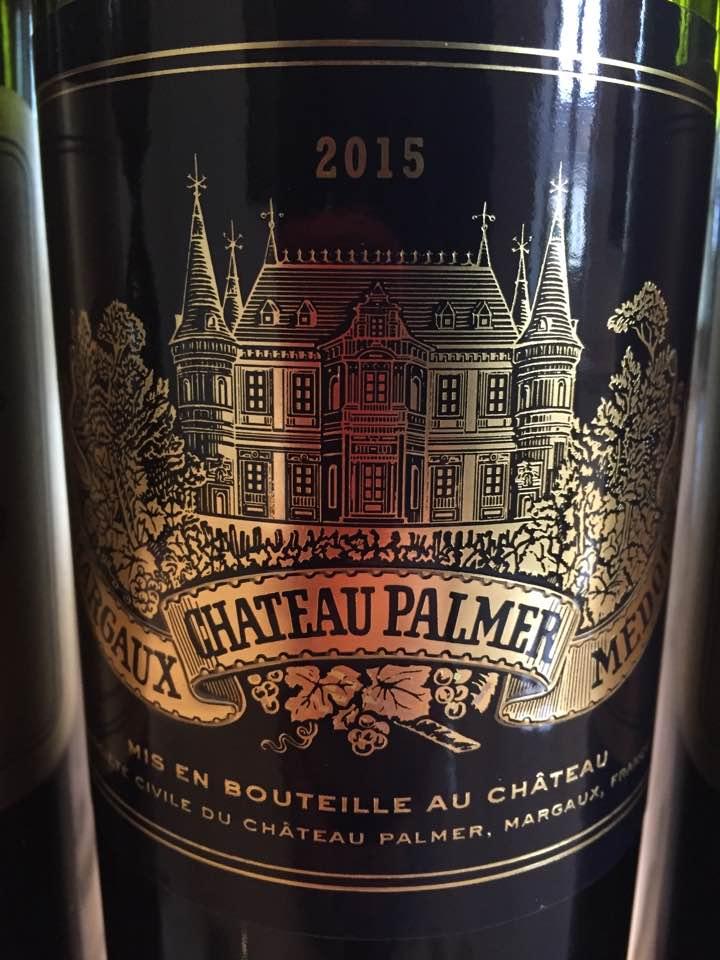 Château Palmer 2015 – Margaux, 3ème Cru Classé