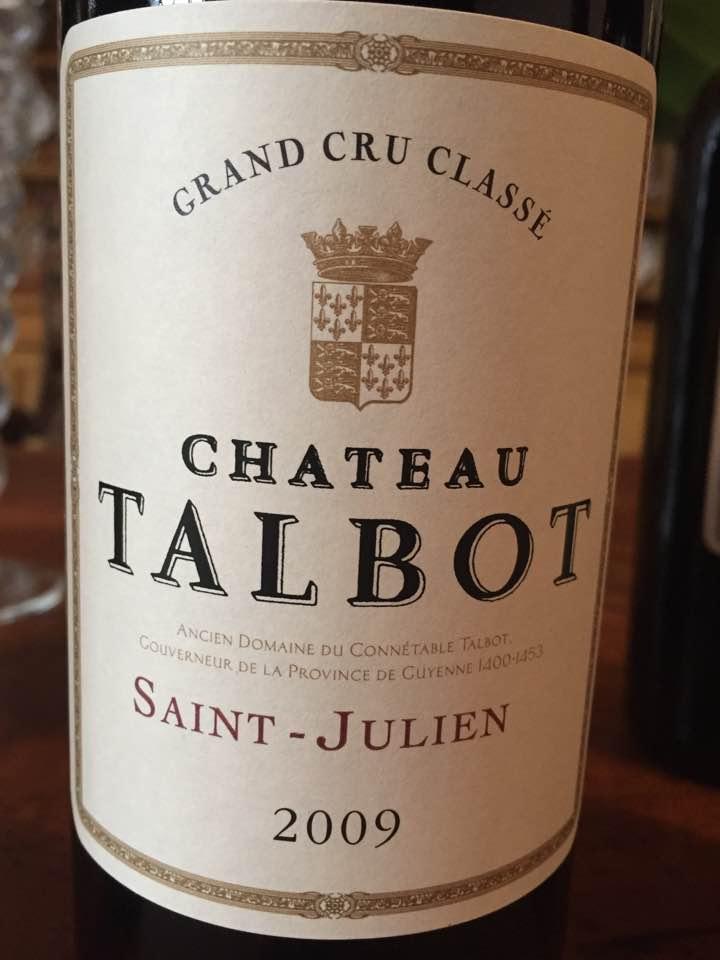 Château Talbot 2009 – Saint-Julien, 4ème Cru Classé
