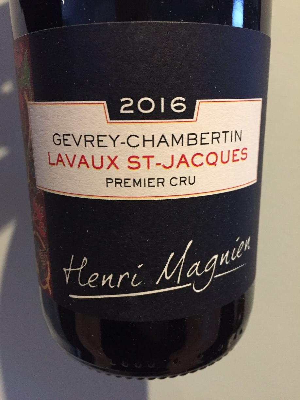 Henri Magnien 2016 – Lavaux St-Jacques Gevrey-Chambertin Premier Cru