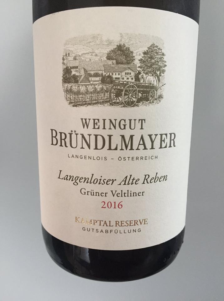 Weingut Bründlmayer – Langenloiser Alter Reben Grüner Veltliner 2016 – Kamptal Reserve DAC