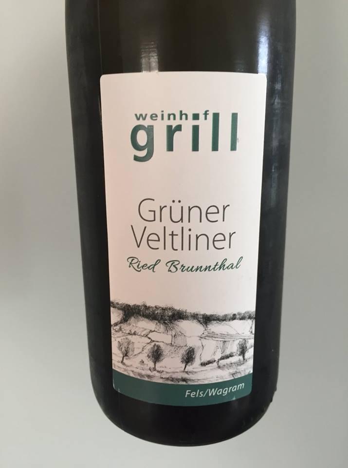 Weinhof Grill – Grüner Veltliner 2017 – Ried Brunnthal – Wagram